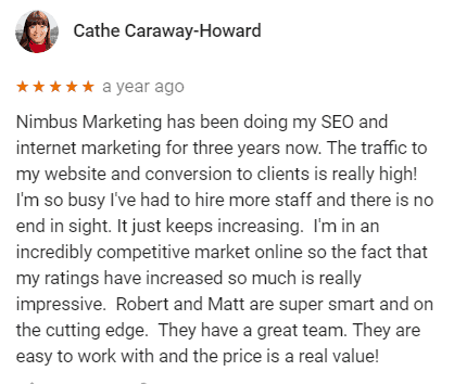 Cathe L. Caraway-Howard Marketing Review from Google
