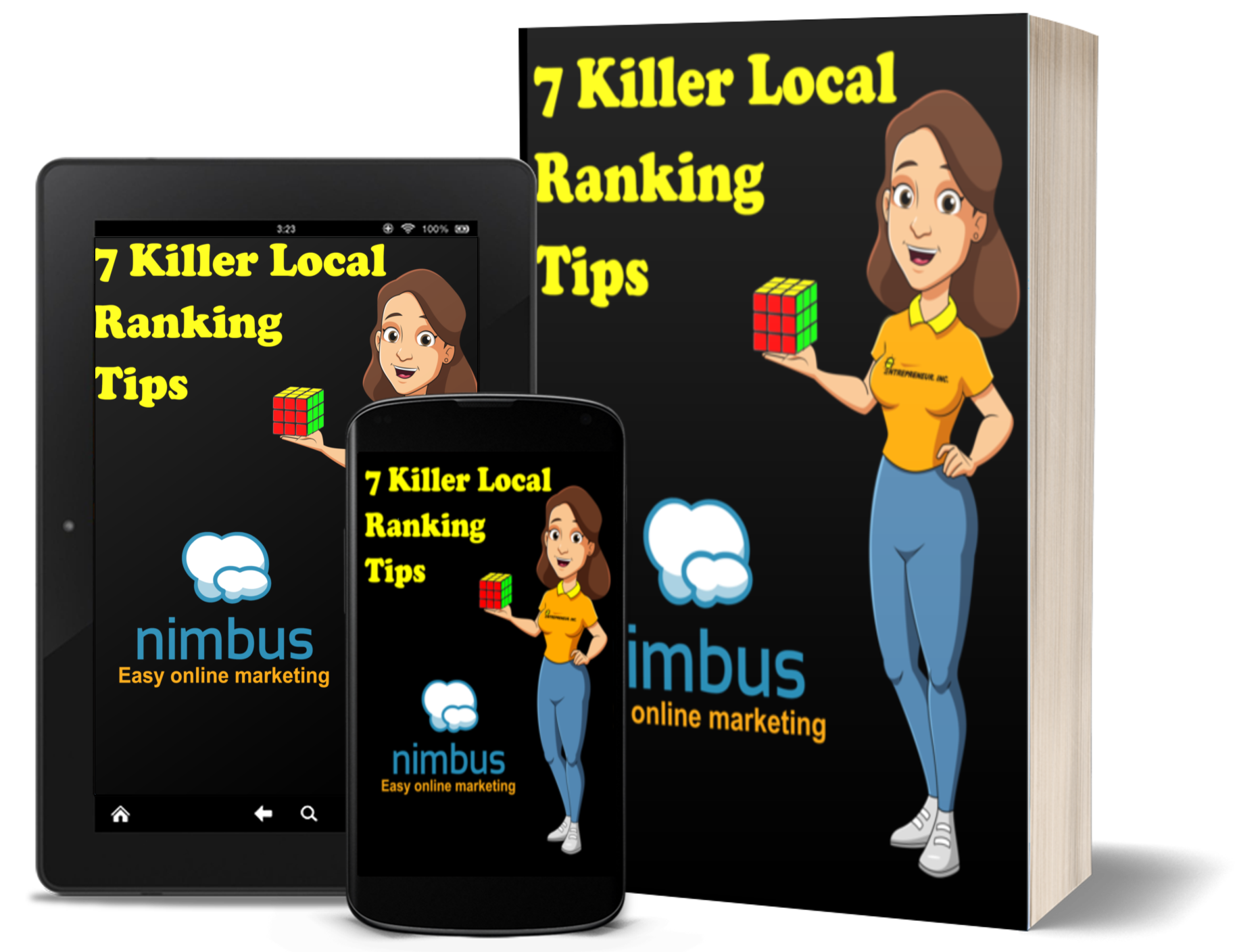 Nimbus' local search optimization tips guide can be viewed on many devices