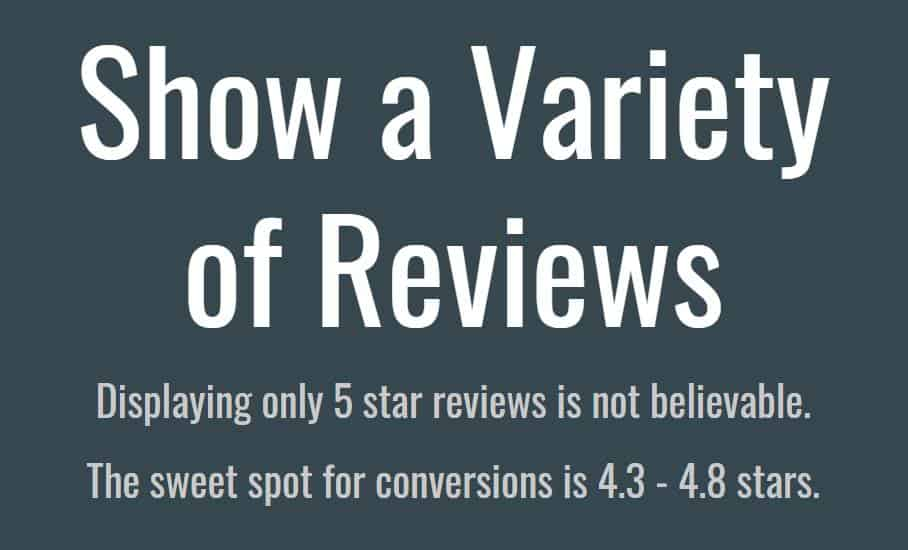 Having a variety of reviews from different platforms helps build trust