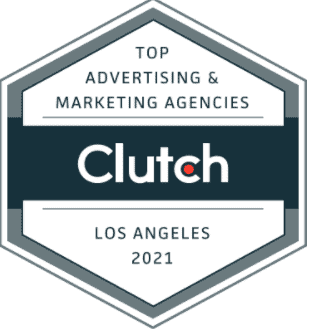 Clutch award for top advertising and marketing company in Los Angeles